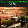 Turtle Tank Reptile Top Habitat Filter Kit Aquatic Large Acrylic Breeding Cage