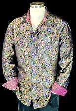 "Robert Graham ""Auguste"" NWT $498 Limited Edition Silk Paisley Shirt Small"