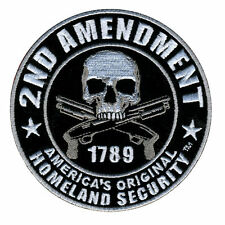 """4""""x 4"""" Biker Military Patch 2ND AMENDMENT 1789 Homeland Security Iron On Patch"""