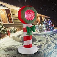 Holiday/Christmas Inflatable Decoration 4 FT Lighted Sign LED Illumination Yard