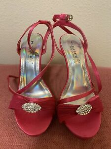 Pink Size 6 Heel Sandal
