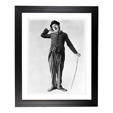 "Charlie Chaplin Yawning -  20x16"" Framed Print"