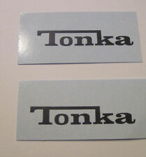 Tonka black scrip water slide decal set