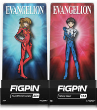 Evangelion FigPin Fig Pin Shinji and Asuka  #333 #334