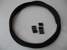 3 METRES OF OUTER INDEX  4MM GEAR CABLE and 10 END FERRULES ***NEW***