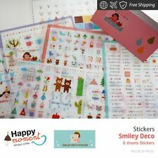 Smiley Deco Stickers Diary Planner Scrapbooking Decoration Stickers 6 sheets