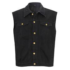 "Jeans Weste schwarz Capricorn Rockwear ""Übergröße""  105798 #"