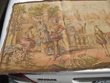 "Vintage Belgium Tapestry Romantic Waterfront Scene 57"" x 19.25"""