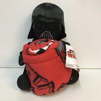 Disney Star Wars Darth Vader Stuffed Plush Toy Hugger Red Throw Blanket Set NWT