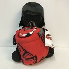 Disney Star Wars Darth Vader Stuffed Plush Toy Hugger Red Throw Blanket Set NWT