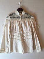 BISOU BISOU BY Michelle Bohbot Size Small Ivory Lace Blouse