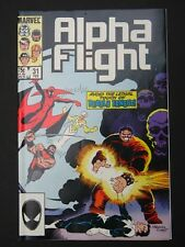 Alpha Flight #31,32,33,34 NM- 1986 Lot of 4 High Grade Marvel Comic Books