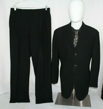 POLO RALPH LAUREN Made in Italy 40R Wool Solid Black Suit - Pants 33 X 31