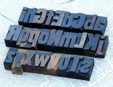 A Z Alphabet 177 Letterpress Wooden Printing Blocks Wood Type Vintage Printer