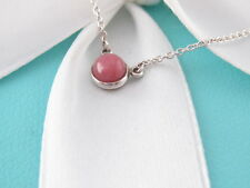 Tiffany & Co Silver Peretti Pink Rhodonite By The Yard Necklace
