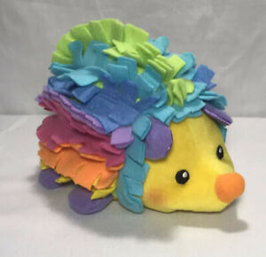 Fisher Price Rainbow Hedgehog Stuffed Animal soft Fleece Felt Crinkle 2005