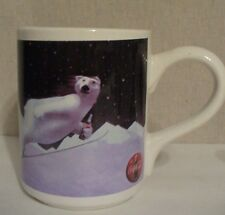 Coca Cola Bear Coffee Mug Skiing Jumping 1993 16 oz