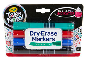 Crayola Take Note! 4 Count Dry Erase Markers