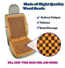 Zento Deals Comfortable Pair Natural Beaded Convenient Massage Car Seat Cushion