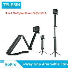 TELESIN Selfie Stick 3-Way Grip Arm +Tripod Mount Handheld Waterproof for Gopro