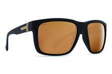 VON ZIPPER MAXIS POLARIZED SUNGLASSES | BLACK SATIN W/ GOLD FLASH SMPFJMAX-PDC