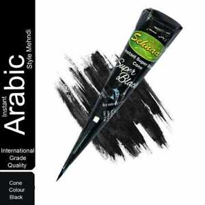 3 Pcs. Vimal's Sehnaaz Instant Super Black 28 gm Henna Mehandi Cone