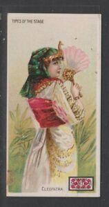 CIGARETTE CARDS Lorillard 1893 Types of the Stage - #6 Cleopatra