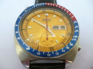VINTAGE SEIKO POGUE 6139 6002 CHRONOGRAPH  IN STUNNING CONDITION
