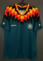 RETRO REPLICA MEN'S GERMANY 1994/1996 AWAY SOCCER FOOTBALL SHIRT JERSEY SIZE M