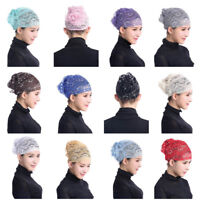 Muslim Women Hijab Inner Hats Lace Flower Amira Caps Islamic Underscarf Headwear