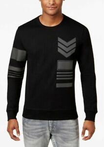 INC International Concepts Men's Graphic Print LS T-Shirt, Black, M