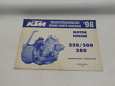 KTM 320419797 1998 250 / 300 / 380 ENGINE SPARE PARTS MANUAL