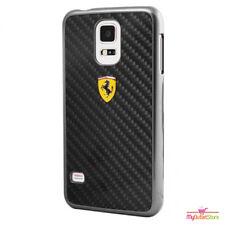 Ferrari Real Carbon Fibre Ultra Slim Hard Case Samsung Galaxy S5 Black