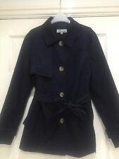 Navy blue short mac / jacket / coat by Debenhams size 10 petite