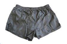 Rucanor vintage Nylon Shorts shiny Sporthose Sprinter Gr. 6 ca. M-L schwarz PS5