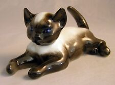 "Signed Fritz Heidenreich ""SIAMESE LYING CAT"" Figurine  No.1907 By Rosenthal"