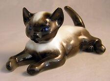 "Signed Fritz Heidenreich ""SIAMESE LYING CAT"" Figurine  No.1907 By Rosenthal"