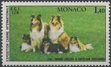 1981 MONACO N°1280** CHIENS, Sc#1285 Rough Collies & Shetland Sheepdog MNH