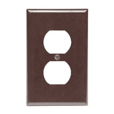 Leviton 002-80503-000 Brown Oversized Receptacle Plate, 1 Gang