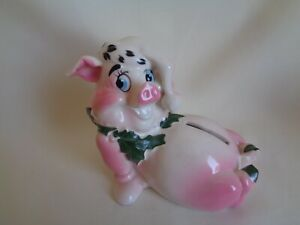 VINTAGE KREISS POTTERY PIGGY BANK WITH LOGO