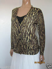 Ralph Lauren Polo Golf Silk Cashmere Leopard Print Cardigan Size M ~NWT~ $298