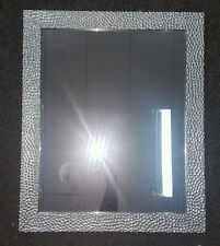 Rectangle Mirror w silver bubble effect frame - hangs both ways rrp $99.95
