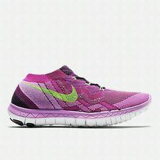 Wmns Nike Free 3.0 Flyknit - UK 4.5 (EUR 38) Black/Raspberry Red/Fuc 718420-005
