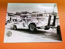 Roger McCluskey Crashed 1970 Plymouth Superbird 8x10 Photo USAC Stock Car