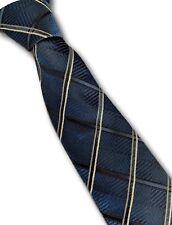 Ben Sherman silk designer blue check tie 8.5cm wide