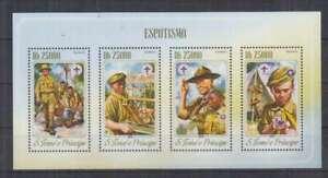 E469. S.Tome E Principe - MNH - 2014 - Organizations - Scouts