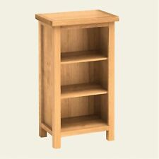 Hand Crafted Oak Mini Bookcase Display Storage Unit 3 Tier Shelves Living Room