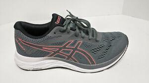 Asics Gel-Excite 6 Running Shoes, Steel Grey/Papaya, Women's 9.5 Wide