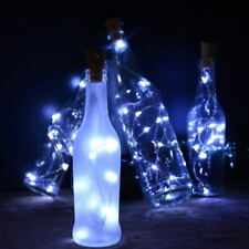 8/10/15/20 LED Solar Wine Bottle Cork Shaped String Fairy Lights Night Lamp Xmas