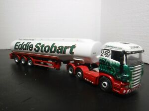 Oxford 1/76 Scale Scania Eddie Stobart tractor and tanker trailer